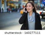 asian woman in new york city... | Shutterstock . vector #160277111