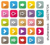 arrow sign icon set. flat icons ... | Shutterstock . vector #160279724