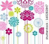 flower bed | Shutterstock .eps vector #160282847