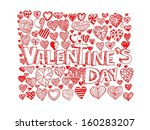 heart drawing  and valentines... | Shutterstock .eps vector #160283207