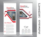 roll up business brochure flyer ... | Shutterstock .eps vector #1602844471