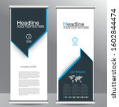 roll up business brochure flyer ... | Shutterstock .eps vector #1602844474