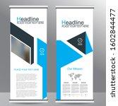 roll up business brochure flyer ... | Shutterstock .eps vector #1602844477