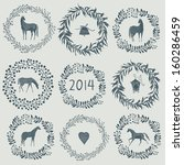 Happy new year 2014! Year of horse - stock vector