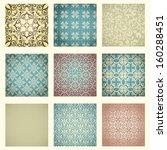 set of nine seamless pattern in ...   Shutterstock .eps vector #160288451