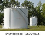 Industrial Bulk Storage Tank for Petroleum Products - stock photo