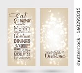 merry christmas and happy new... | Shutterstock .eps vector #160292015