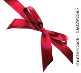 red corner ribbon with tied...   Shutterstock .eps vector #160292267