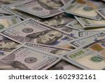 a pile of one hundred us... | Shutterstock . vector #1602932161