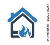 home fire explosion icon  fire...