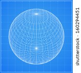 abstract wireframe of sphere ... | Shutterstock .eps vector #160294451
