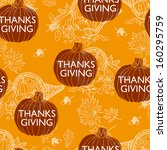 vector seamless thanksgiving ... | Shutterstock .eps vector #160295759