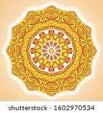 multicolor unique mandala... | Shutterstock . vector #1602970534