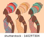 pretty african american woman... | Shutterstock .eps vector #160297304