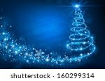 christmas tree | Shutterstock .eps vector #160299314