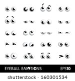 eyeball emotions | Shutterstock .eps vector #160301534