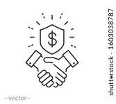 trust partnership in business... | Shutterstock .eps vector #1603038787