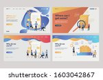collection of business analysts ... | Shutterstock .eps vector #1603042867