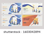 set of business analysts... | Shutterstock .eps vector #1603042894