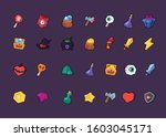 set icons for gaming interface. ...