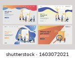 collection of business analysts ... | Shutterstock .eps vector #1603072021