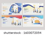 set of tiny people near... | Shutterstock .eps vector #1603072054