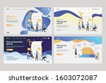 set of employees analyzing... | Shutterstock .eps vector #1603072087