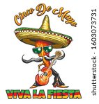 mexican holiday cinco de mayo... | Shutterstock . vector #1603073731