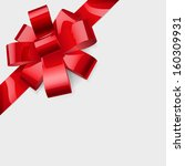 bow made of shiny red ribbon.... | Shutterstock . vector #160309931