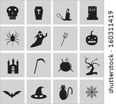 halloween icon besics | Shutterstock .eps vector #160311419