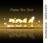happy new year background with... | Shutterstock .eps vector #160314251