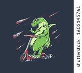 t rex scooter vector...   Shutterstock .eps vector #1603145761