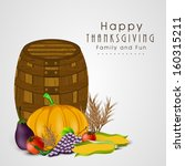 happy thanksgiving day... | Shutterstock .eps vector #160315211