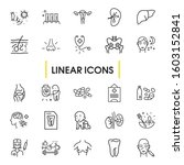 healthcare icons set with...   Shutterstock . vector #1603152841