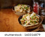 fried squid with onions and... | Shutterstock . vector #160316879
