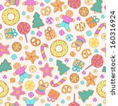 Cookies Seamless Pattern For...