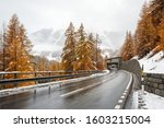 Winding Mountain Road During...
