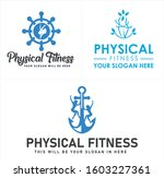 physical fitness logo with... | Shutterstock .eps vector #1603227361