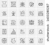 set of 25 universal business... | Shutterstock .eps vector #1603280287