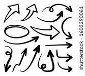 arrows vector set.  hand draw...   Shutterstock .eps vector #1603290061