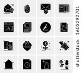 16 universal business icons... | Shutterstock .eps vector #1603292701