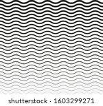 wavy horizontal lines. vector... | Shutterstock .eps vector #1603299271