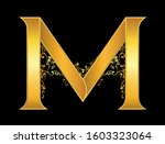 gold letter m logo baroque style | Shutterstock .eps vector #1603323064