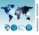 world map | Shutterstock . vector #160333649