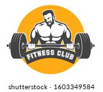 fitness club or gym emblem.... | Shutterstock . vector #1603349584
