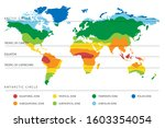 world climate zones map with... | Shutterstock . vector #1603354054