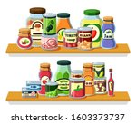 preserved food  products in...   Shutterstock .eps vector #1603373737