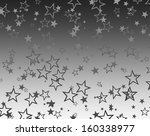 christmas silver stars | Shutterstock . vector #160338977