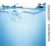water and air bubbles over... | Shutterstock . vector #160339601
