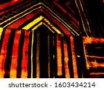 folk stripes. christmas...   Shutterstock . vector #1603434214